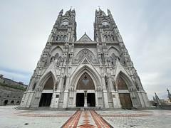 La Basílica del Voto Nacional at 2,850 meters (9,350 ft) above sea level, Barrio Histórico, Quito, Ecuador.