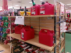 Gas cans and trimmer line