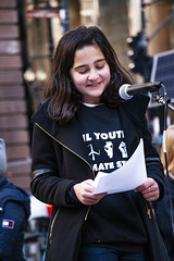Zara Linnemann 8th Grade Student at Whitney Young High School Illinois Youth Climate Strike 12-6-19_4915