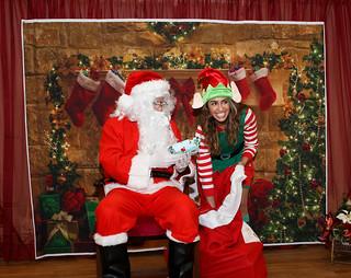 Santa and Elf at St.Hagop 2019