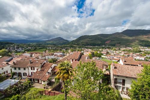 Vue sur les toits de Saint Jean Pied de Port [Pays Basque, FRANCE]