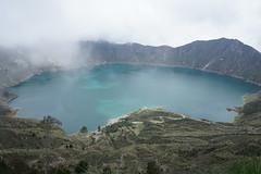 Laguna Quilotoa, 3,914 meters (12,841 ft) above sea level, Cotopaxi Province, Equador.