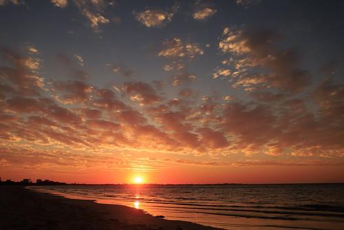 Sun setting over Rockingham Western Australia