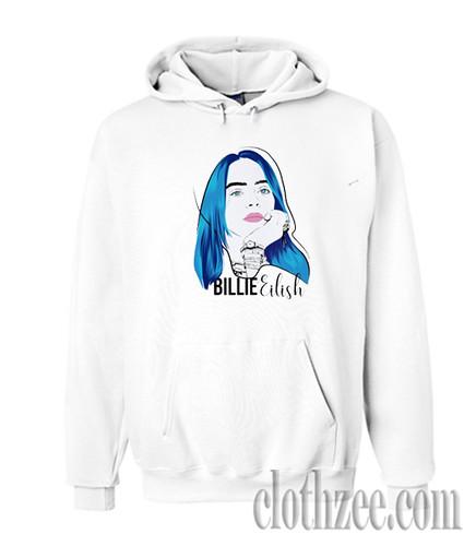Billie Eilish Blue Hair Trending Hoodie