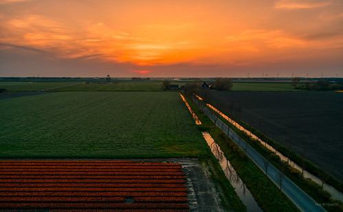 Sunset over West Frisia.