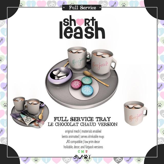 .:Short Leash:. Full Service Tray - Le Chocolat Chaud Version