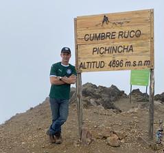 Climbing Volcán Rucu Pichincha, 4,698 meters (15,413 ft) above sea level, Quito, Ecuador.