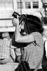 Street woman photographer