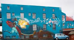 Stoked Mural, Salt River, Capetown - Fogged in