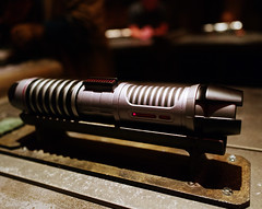 Custom lightsaber. Star Wars Galaxy's Edge at Disneyland California, 2019. Shot on Leica Q2