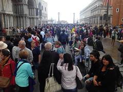 Masificación en San Marco, Venecia