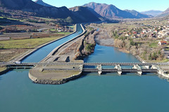 Espinasse dam and hydropower canal, Durance River basin, France (3)
