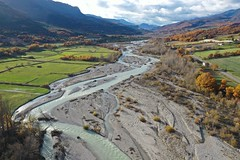 Braided river, Jabron River, Durance, France