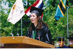 Tina Sauerhammer, Commencement, May 1999