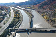 Saint Lazare Dam and hydropower canal, Durance river basin, France (2)