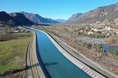 Espinasse dam and hydropower canal, Durance River basin, France (1)