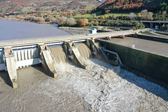 Saint Lazare Dam and hydropower canal, Durance river basin, France (1)