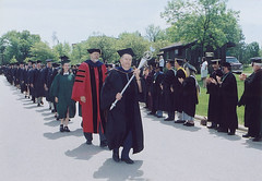 Commencement Processional with Chancellor Emeritus Edward Weidner Carrying Mace, May  2001