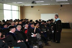 Chancellor Tom Harden Addressing Faculty, Commencement, May 2015