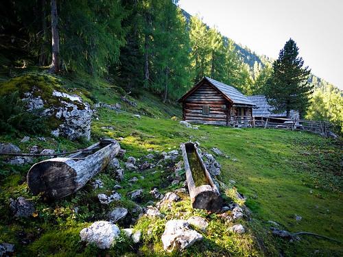 Kammspitze über Öfen, Viehbergalm und Miesbodensee am Dachsteinmassiv