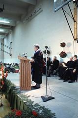 Max Lerner, Commencement Speaker, Deckner Gym, June 1970