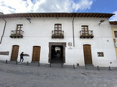 The Casa del Alabado Museum of Pre-Columbian Art, Quito´s Historic Center at an elevation of 2,850 metres (9,350 ft) above sea level, Ecuador.