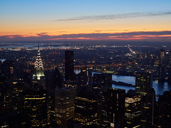 Dawn from the Empire State Building
