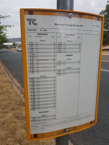 Timetable at my local bus stop