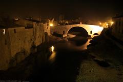 FR11 3385 Le Pont de l'Abbaye et la rivière l'Orbieu. Lagrasse, Aude, Languedoc