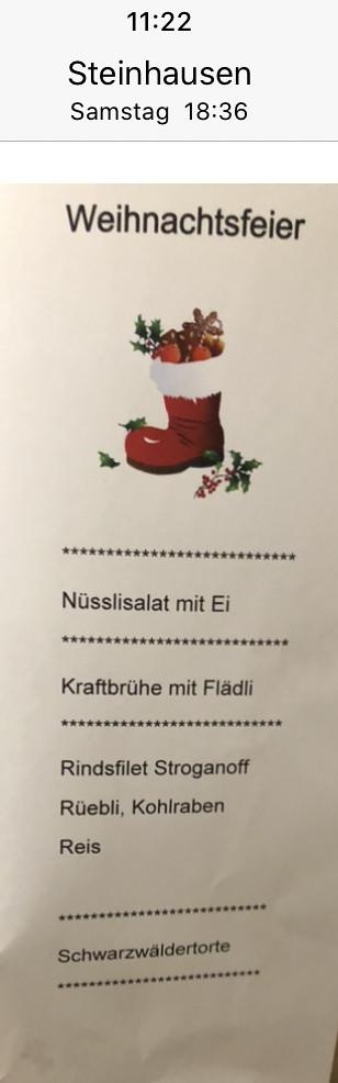 Weihnachtsessen 2019