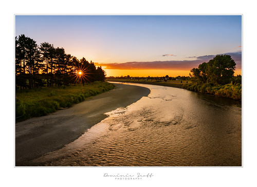 Bob Moss Challenge - Manawatu River Star Burst Sunset