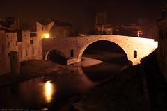 FR11 3392 Le Pont de l'Abbaye et la rivière l'Orbieu. Lagrasse, Aude, Languedoc