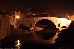 FR11 3390 Le Pont de l'Abbaye et la rivière l'Orbieu. Lagrasse, Aude, Languedoc