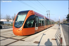 Alstom Citadis 302 – Setram (Société d'Économie Mixte des TRansports en commun de l'Agglomération Mancelle) n°1011 (Sargé-lès-le-Mans)