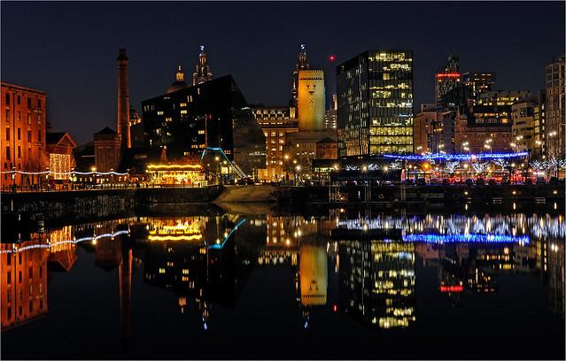 City lights Liverpool