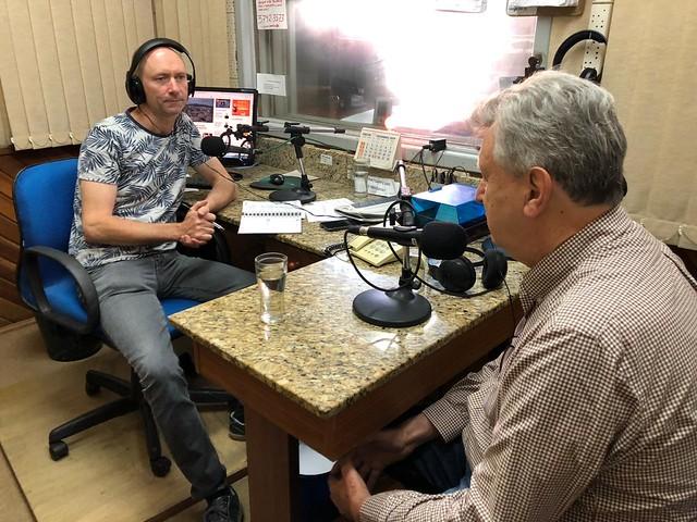 13/12/2019 Entrevista Programa em foque, entrevistador Henrique Lindner - Sobradinho