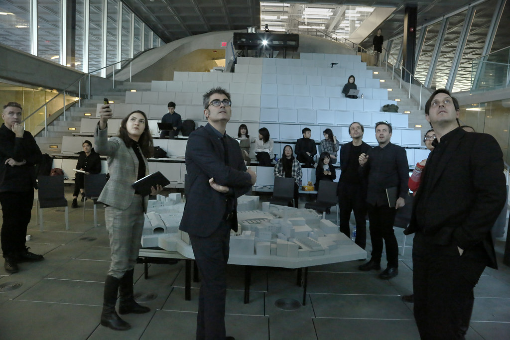 The option studio Market Forces, co-taught by Visiting Critic Rodolfo R. Dias and Gensler Visiting Critics Kevin Carmody and Andy Groarke, held it's final review in Milstein Auditorium.