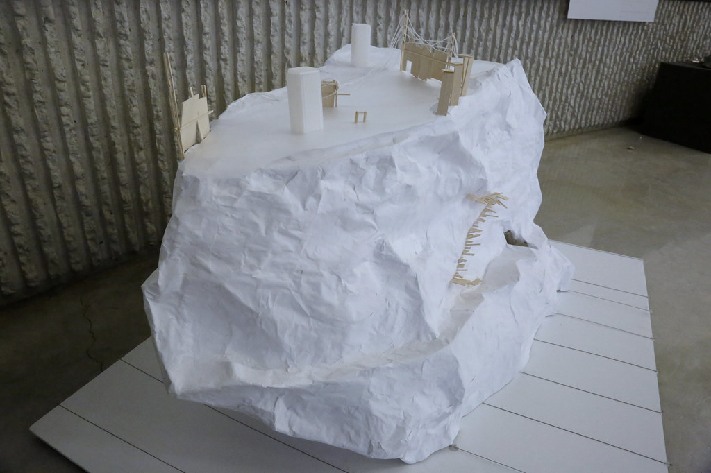 A model from the B.Arch. first-year studio.