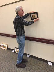 Bob, setting up his show at Urbanna Public Library