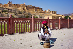 India, Amber - Hypnotizing performance in front of Amber Fort - February 2018