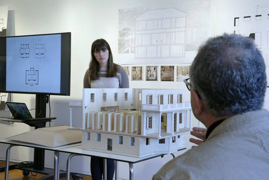 The thesis presentation of Maureen O'Brien (M.Arch. '20).