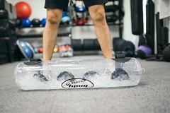 Closeup of body coach aqua fitness bag equipment.