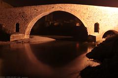 FR11 3412 Le Pont de l'Abbaye et la rivière l'Orbieu. Lagrasse, Aude, Languedoc