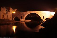 FR11 3396 Le Pont de l'Abbaye et la rivière l'Orbieu. Lagrasse, Aude, Languedoc