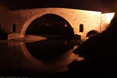 FR11 3406 Le Pont de l'Abbaye et la rivière l'Orbieu. Lagrasse, Aude, Languedoc