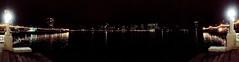 Oakland, Lake Merit 180 degree panorama, dinner time in winter IMG_3961 (1)