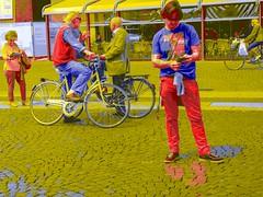 Street Scene Red Blue and Yellow, Ferrara