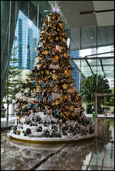 Christmas Tree in High Rise Foyer Singapore-1=