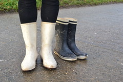 342 -- White wellies from Hevea -- Rubberboots -- Gummistiefel --Hevea Regenlaarzen