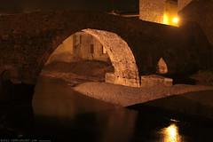 FR11 3438 Le Pont de l'Abbaye et la rivière l'Orbieu. Lagrasse, Aude, Languedoc